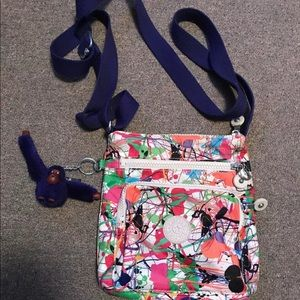 Kipling Paint Splatter Crossbody Purse
